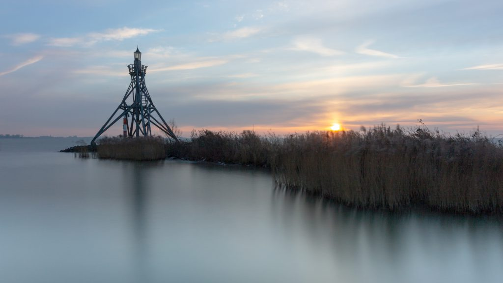 Vuurtoren van Hoorn, zonsopkomst, Noord Holland
